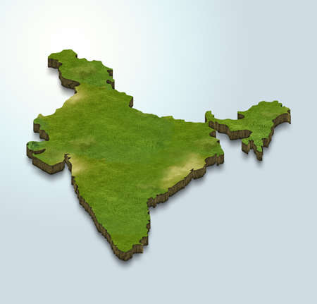 3D map illustration of india