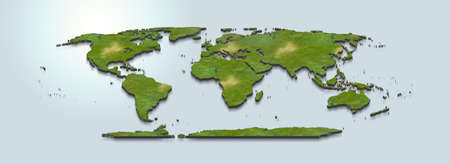 3D map illustration of the world
