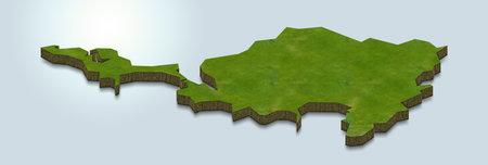 3D map illustration of Sint Maarten