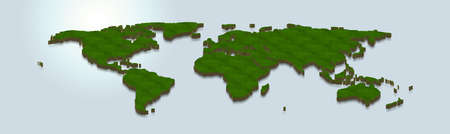3D map illustration of word