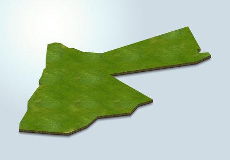 3D map illustration of Jordan