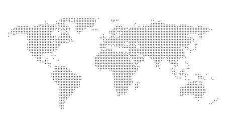World map outline vector of provinces or states Vektorgrafik