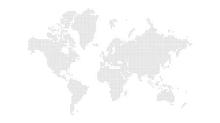 World map outline vector of provinces or states
