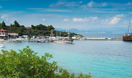 Ormos Panagias harbour in Sithonia, Greece