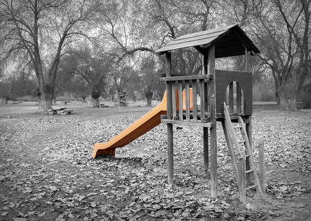stepping stone: black wooden playgrounds built outdoors and white
