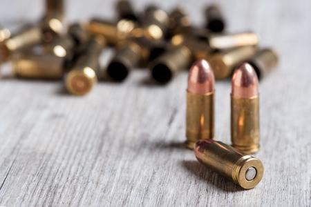 firearm ammunition with gunpowder and caps