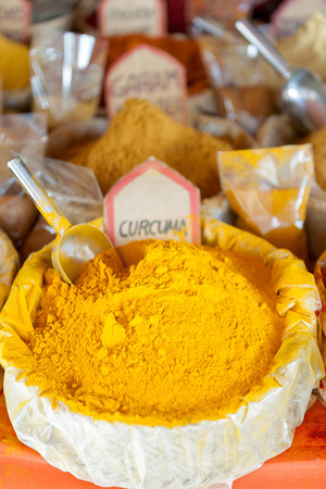 paprika powder isolated in the foreground with intense color Stock Photo