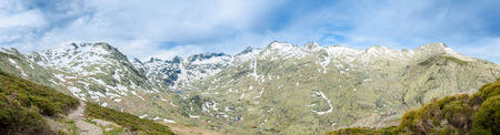 Views of the Gredos mountain range located in the central system