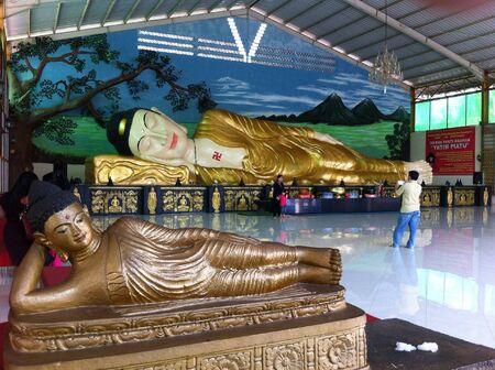 budha: Lying Budha statue in Indonesia