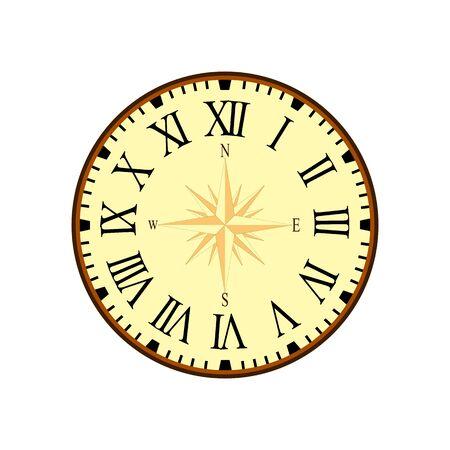 Vintage design clock vector illustration