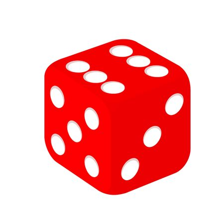 Simple Red Casino Gambling Dice Vector Design