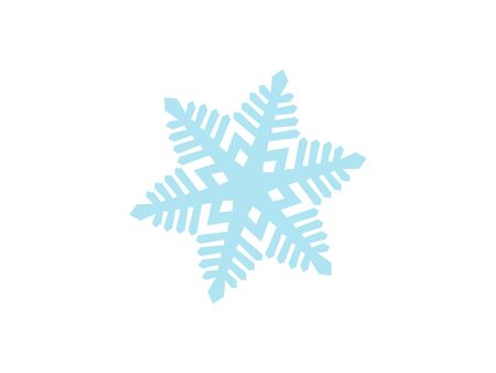 Detailed Snowflake Vector Design - Christmal Time and Holiday Season with cold and snowy weather in the winter