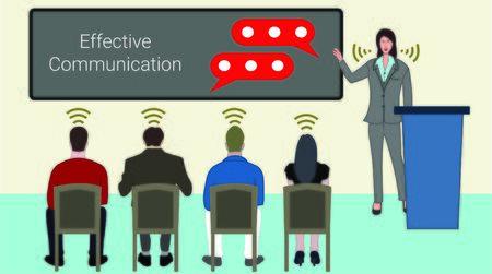 Une communication efficace est la clé du succès de toute présentation d'entreprise.
