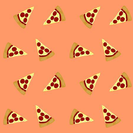 seamless pattern: Vector seamless pattern pizza