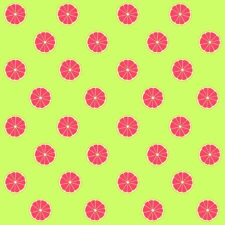 seamless pattern: Vector grapefruit seamless pattern Illustration