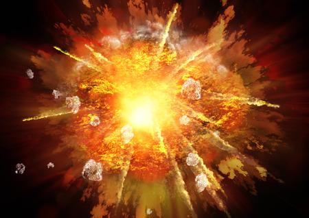Impacto explosión