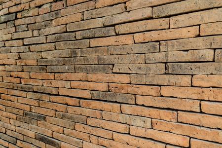 old brick wall: Old brown brick wall