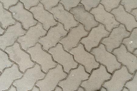 brick floor: Pattern of street Concrete block