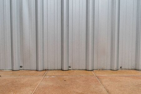 metal sheet: Gray metal sheet wall