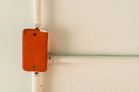 junction pipe: Pipe of electricity with red junction box