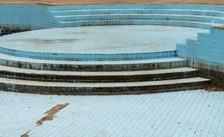 abandoned: Dry Abandoned swimming pool Stock Photo