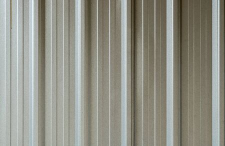 metal sheet: Gray metal sheet wall