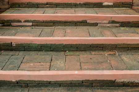 aged: Aged brick staircase Stock Photo