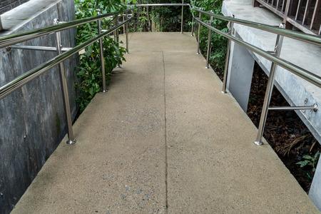 wheelchair access: Concrete ramp for wheelchair