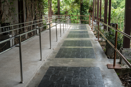 ramp: Concrete ramp for wheelchair