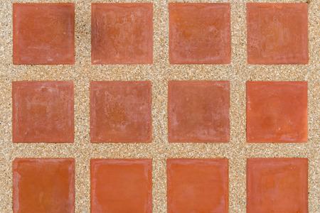 piso de baldosas de cerámica hecha a mano de edad