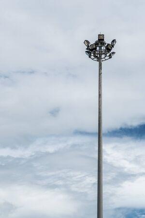 spot light: Spot light pole on blue sky