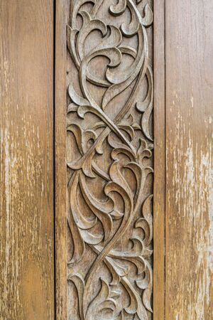 wood craft: Wood craft Thai classic pattern Stock Photo