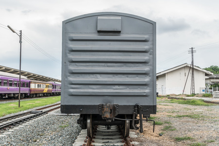 old container: Old gray train container