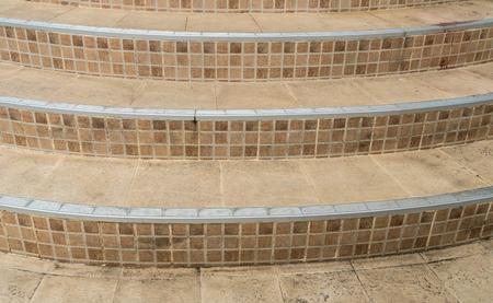 curve: Curve concrete tile staircase