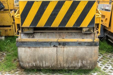steamroller: Part of Yellow steamroller