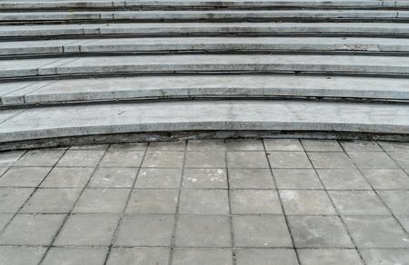 curve: Curve concrete staircase