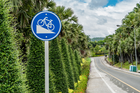 steep: Steep hill traffic sign for bicycle
