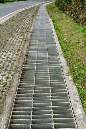 Rusty metal drain cover