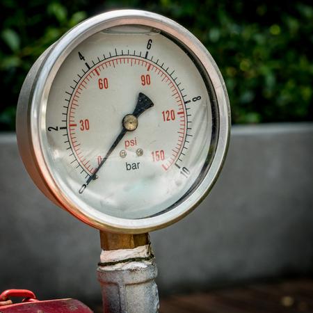 gage: Zero Water pressure gage Stock Photo