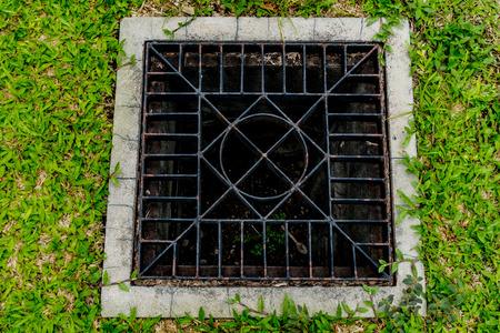 Image of Rusty metal drain cover