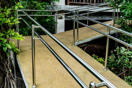 Concrete ramp for wheelchair