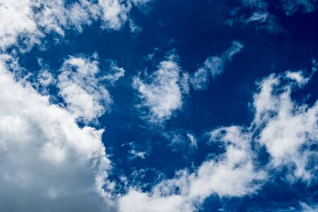 brigth: White cloud with blue sky background