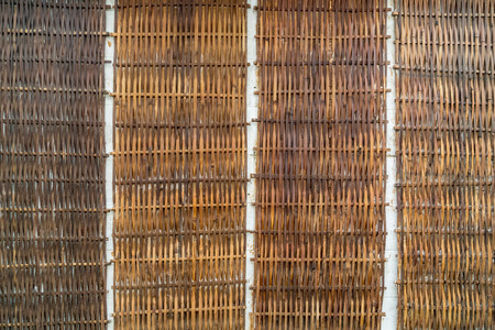 Old Bamboo weave wall texture background