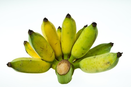 Ripe banana on isolated white Stock Photo - 15364479