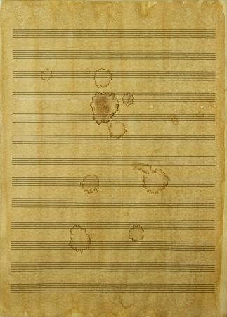 Rough music sheet Stock Photo