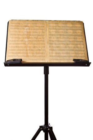 Old music Sheet on stand photo