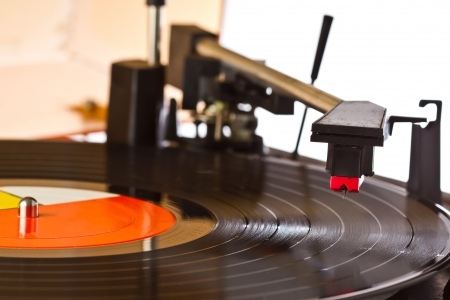 Old turntable photo