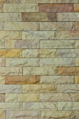 exterior architectural details: Sandstone wall Stock Photo