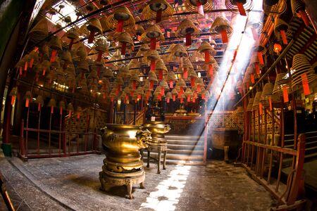 Chinese temple at Hong Kong Stock Photo