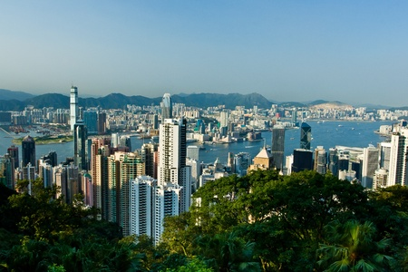 Skyscraper at Hong Kong, view from The Peak